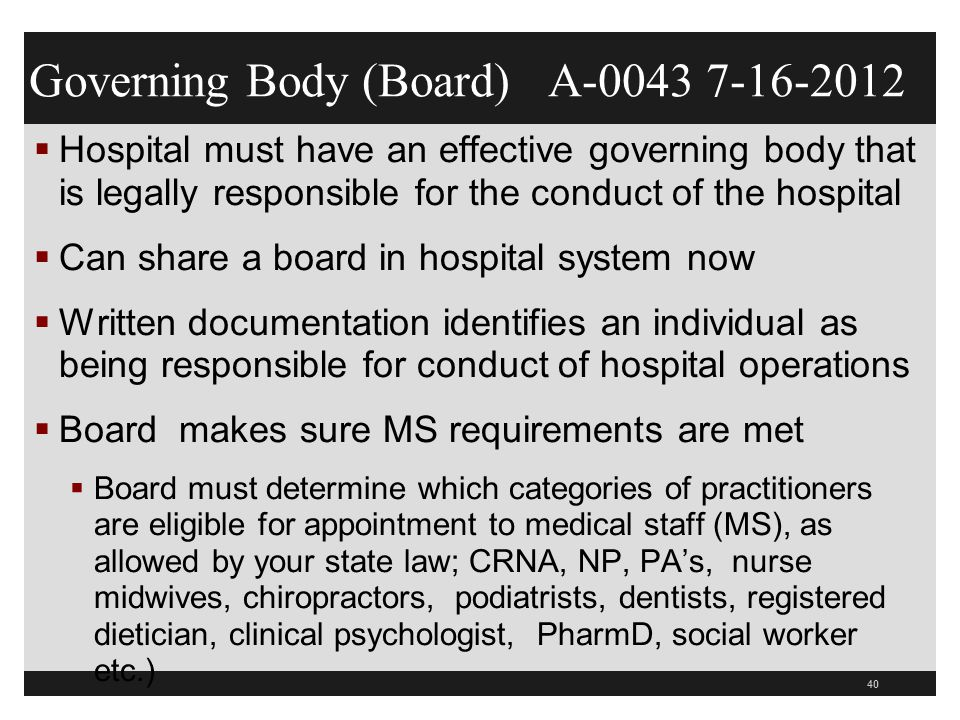 Governing Body (Board) A-0043 7-16-2012