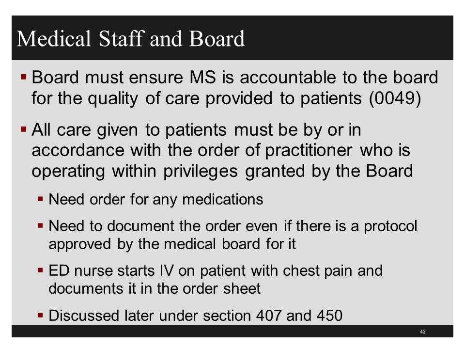 Medical Staff and Board