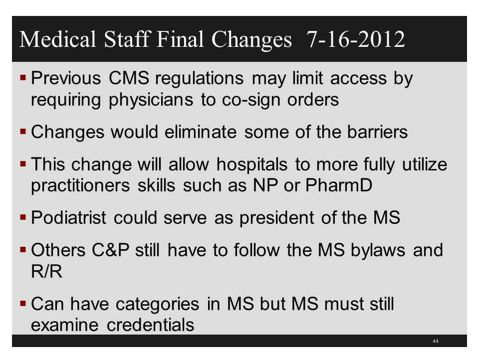 Medical Staff Final Changes 7-16-2012