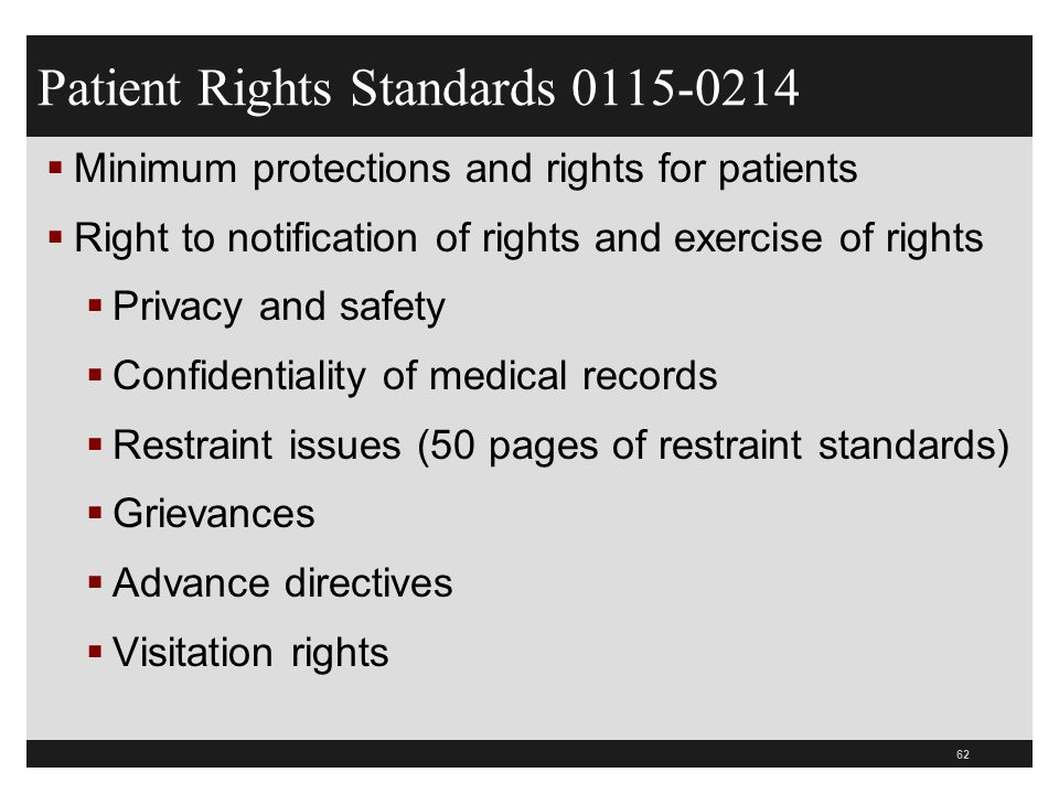 Patient Rights Standards 0115-0214