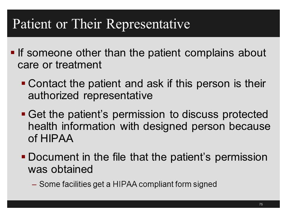 Patient or Their Representative