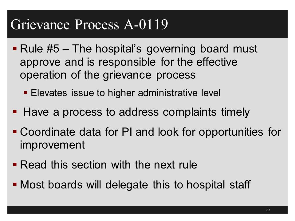 Grievance Process A-0119