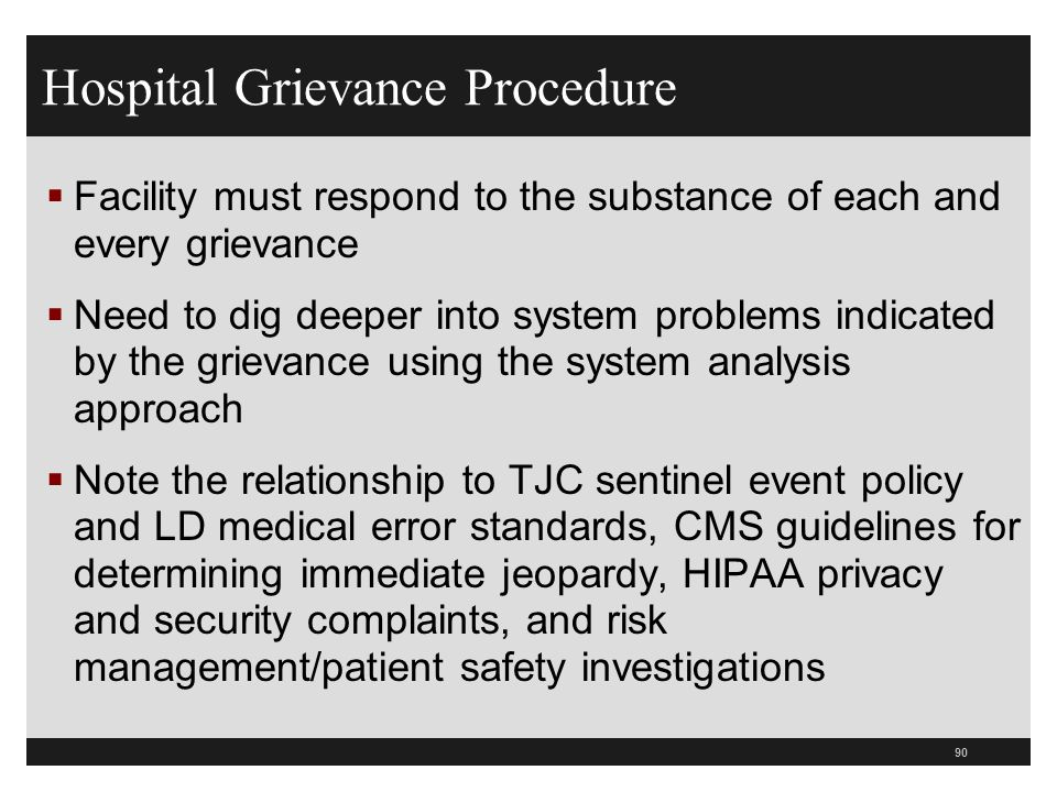 Hospital Grievance Procedure