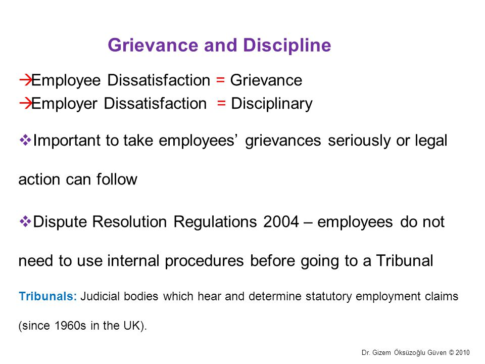 Grievance and Discipline