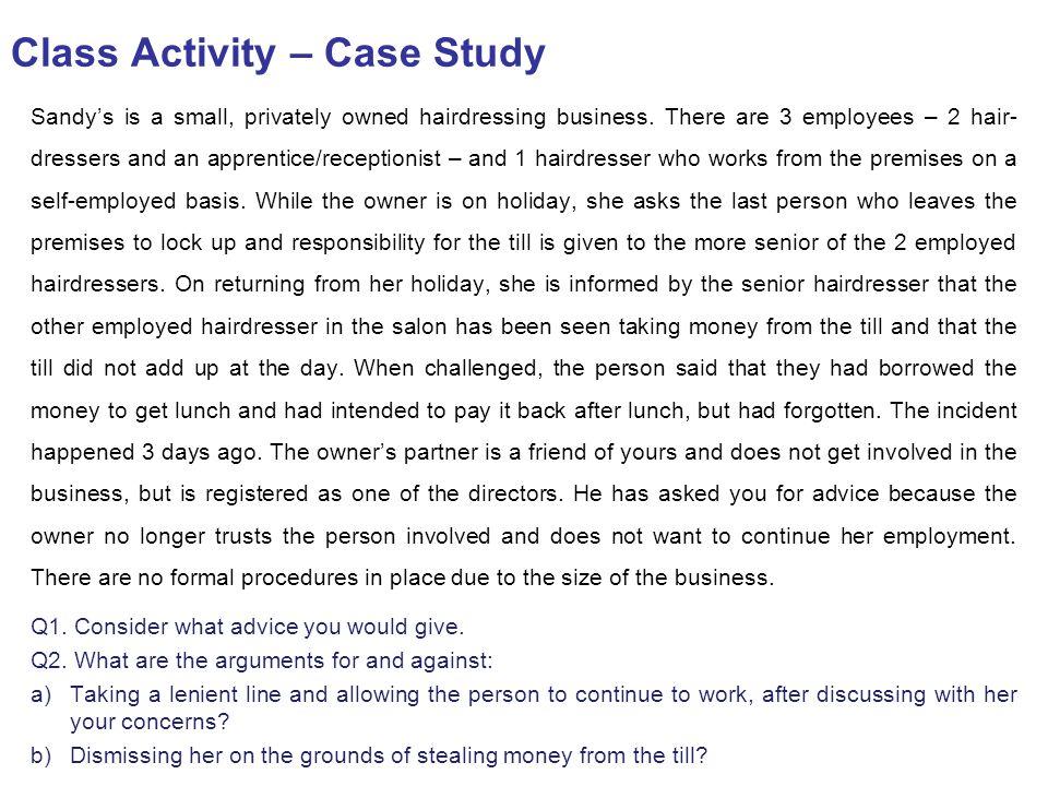 Class Activity – Case Study