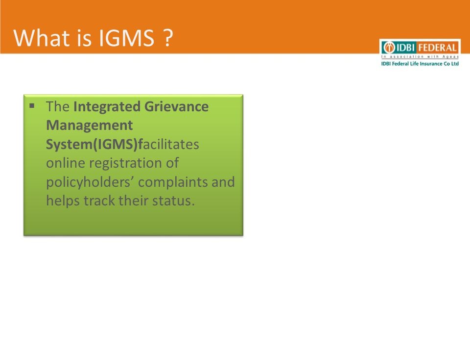 What is IGMS