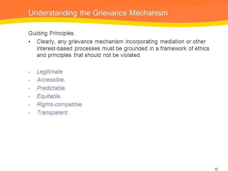 Understanding the Grievance Mechanism