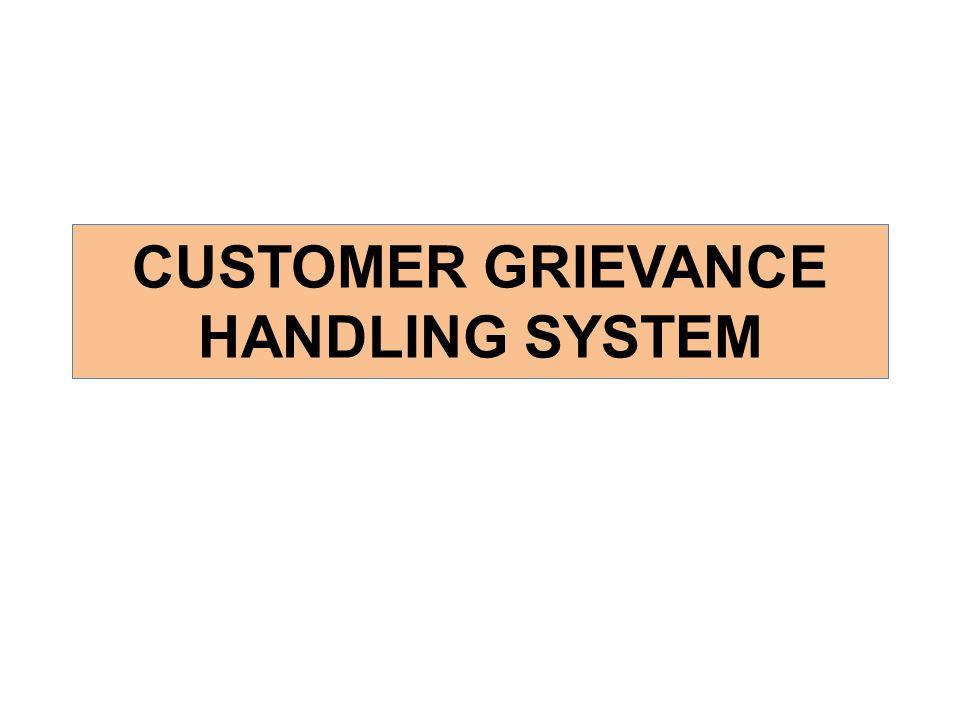 CUSTOMER GRIEVANCE HANDLING SYSTEM