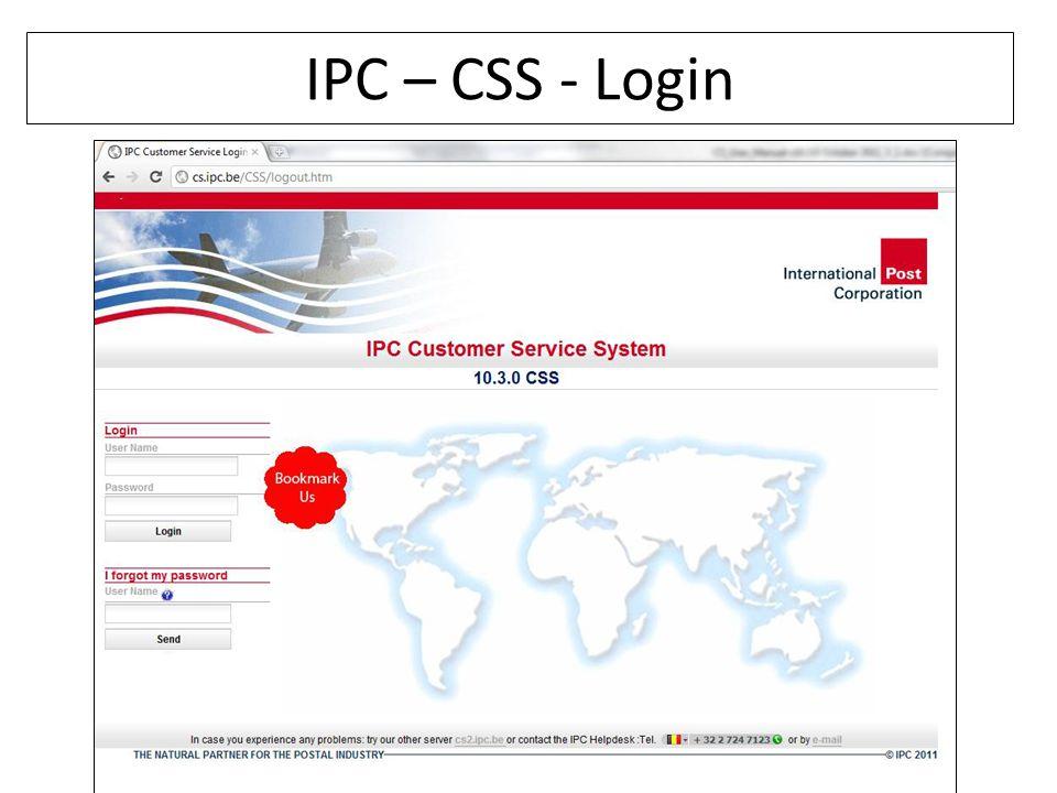 IPC – CSS - Login