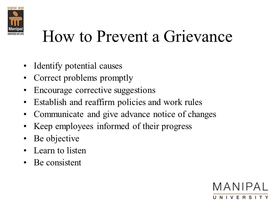 How to Prevent a Grievance