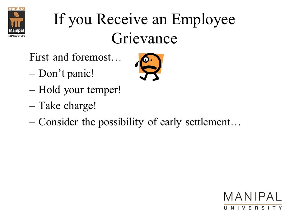 If you Receive an Employee Grievance