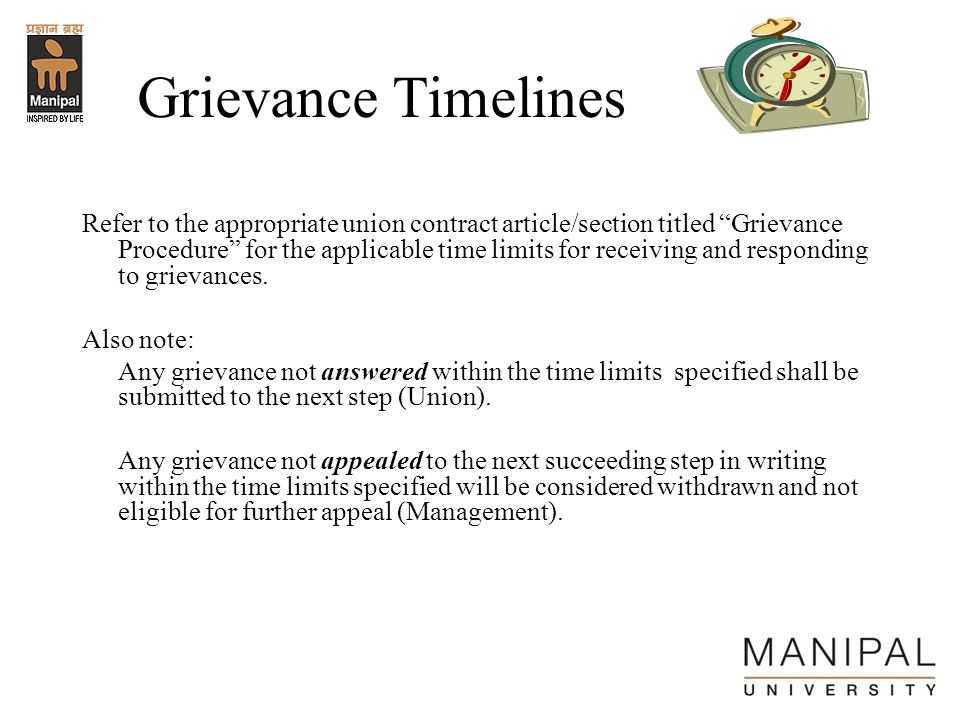 Grievance Timelines