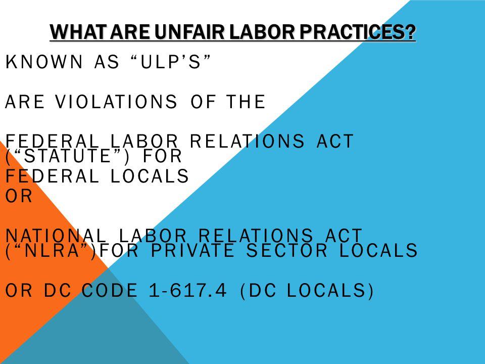 What Are Unfair Labor Practices
