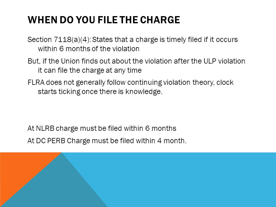 When Do You File the Charge