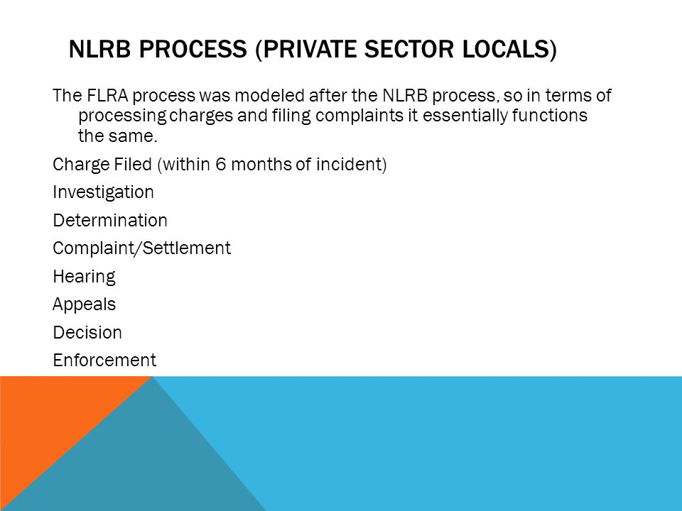 NLRB Process (Private Sector Locals)