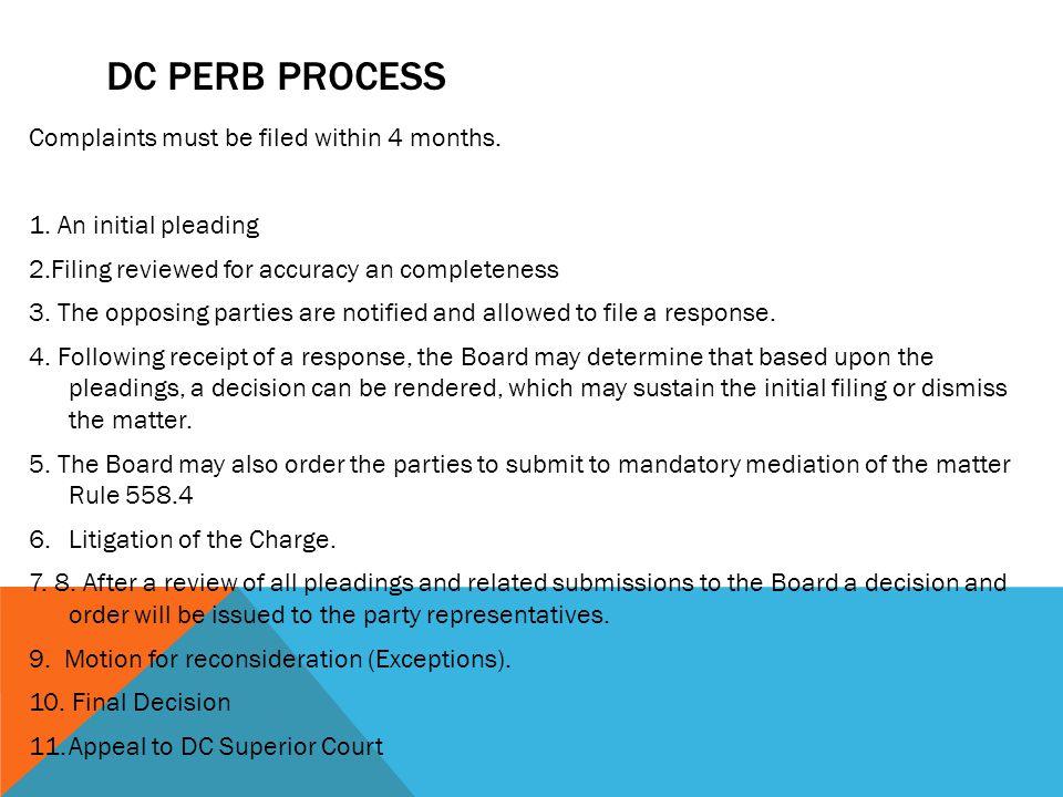 DC PERB PROCESS