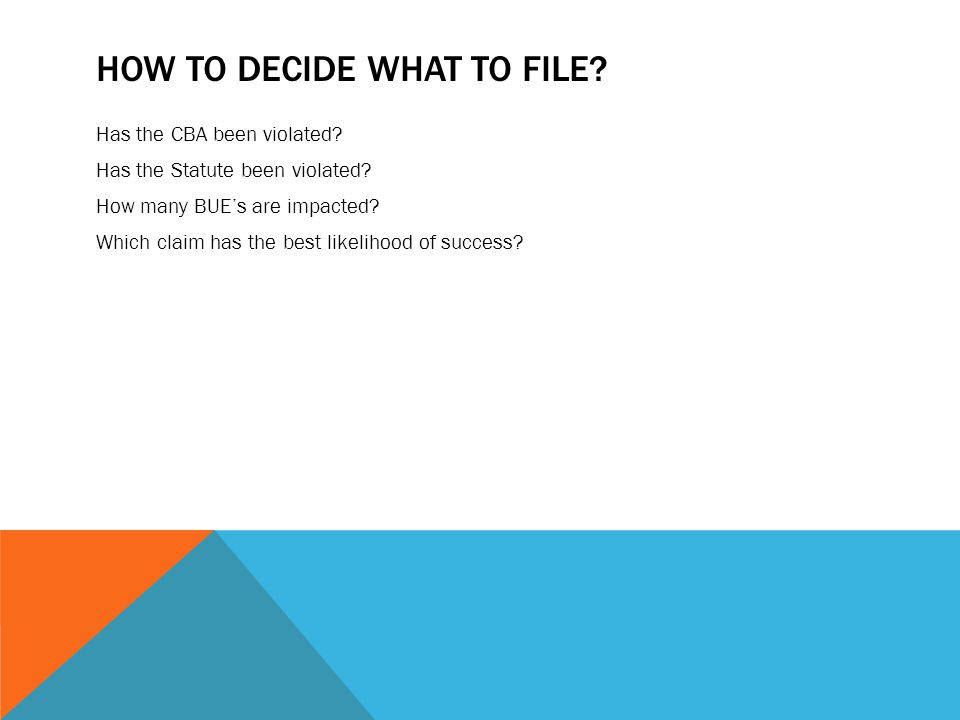 How to Decide What to File