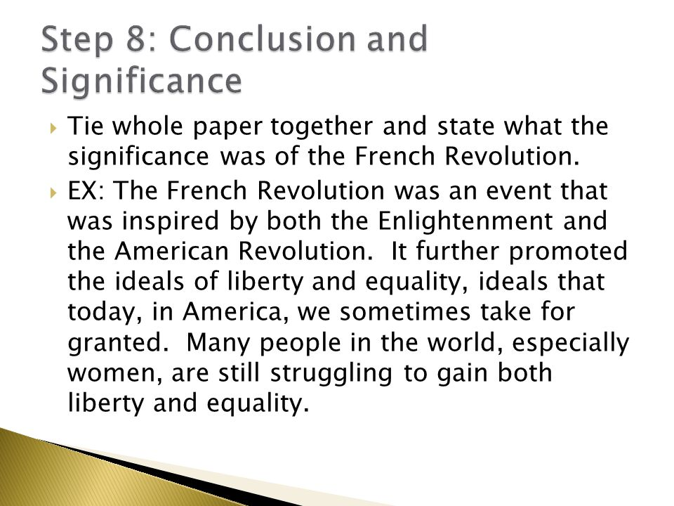 good conclusion french revolution essay Effects of the french revolution nationalism and the french revolution new topic ideals of french revolution new topic conclusion of french revolution napoleon bonaparte and the french revolution new topic the french revolution poem new topic essay on french revolution long term causes of the french revolution new topic what ended the french.