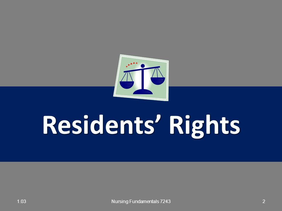 Residents' Rights 1.03 Nursing Fundamentals 7243