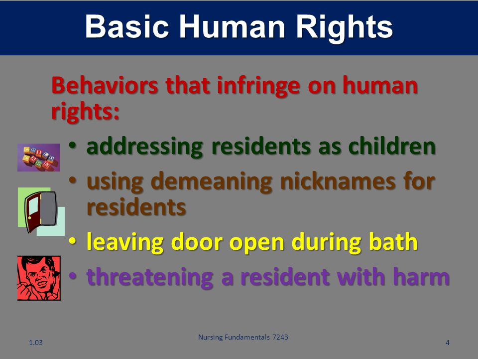 Basic Human Rights Behaviors that infringe on human rights: