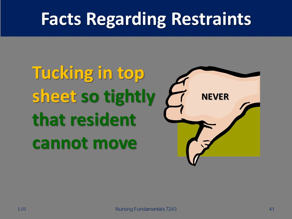Facts Regarding Restraints