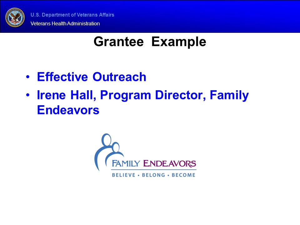 Grantee Example Effective Outreach