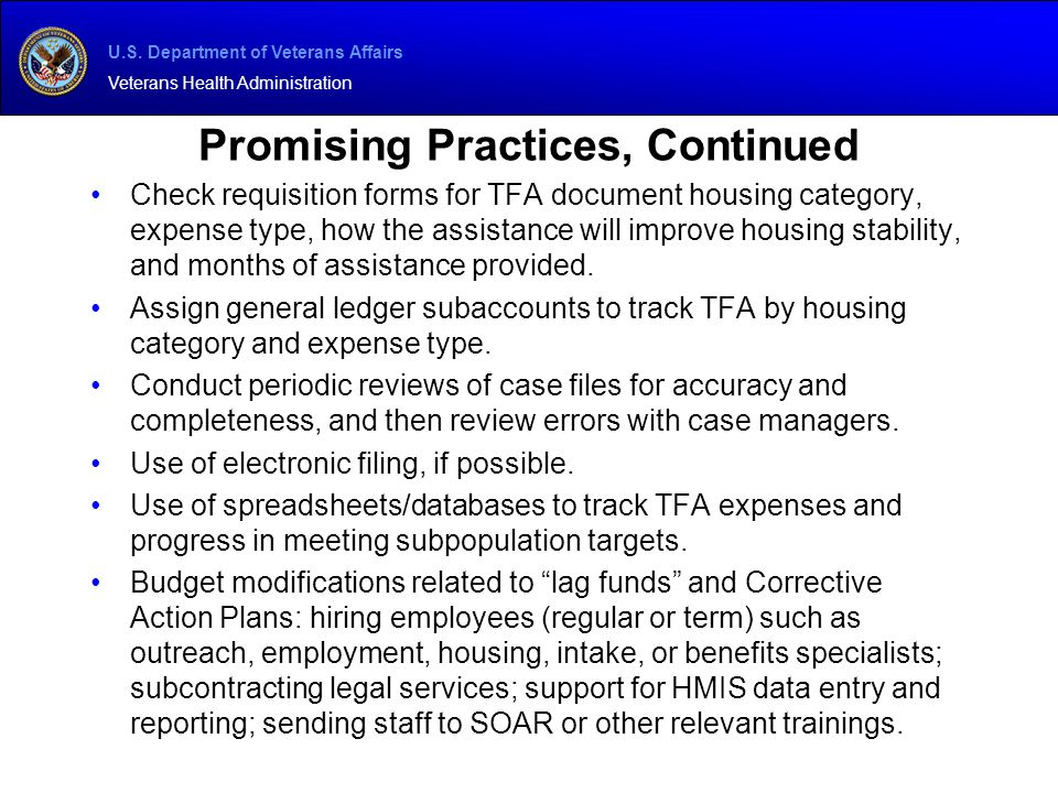 Promising Practices, Continued