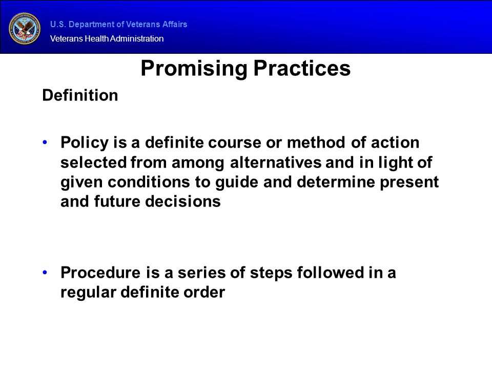 Promising Practices Definition