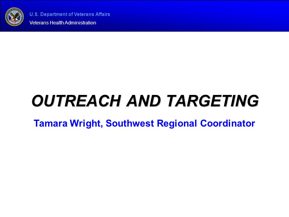 Outreach and Targeting