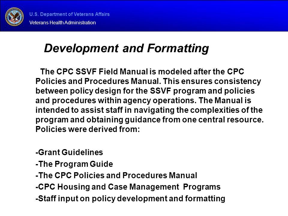 Development and Formatting