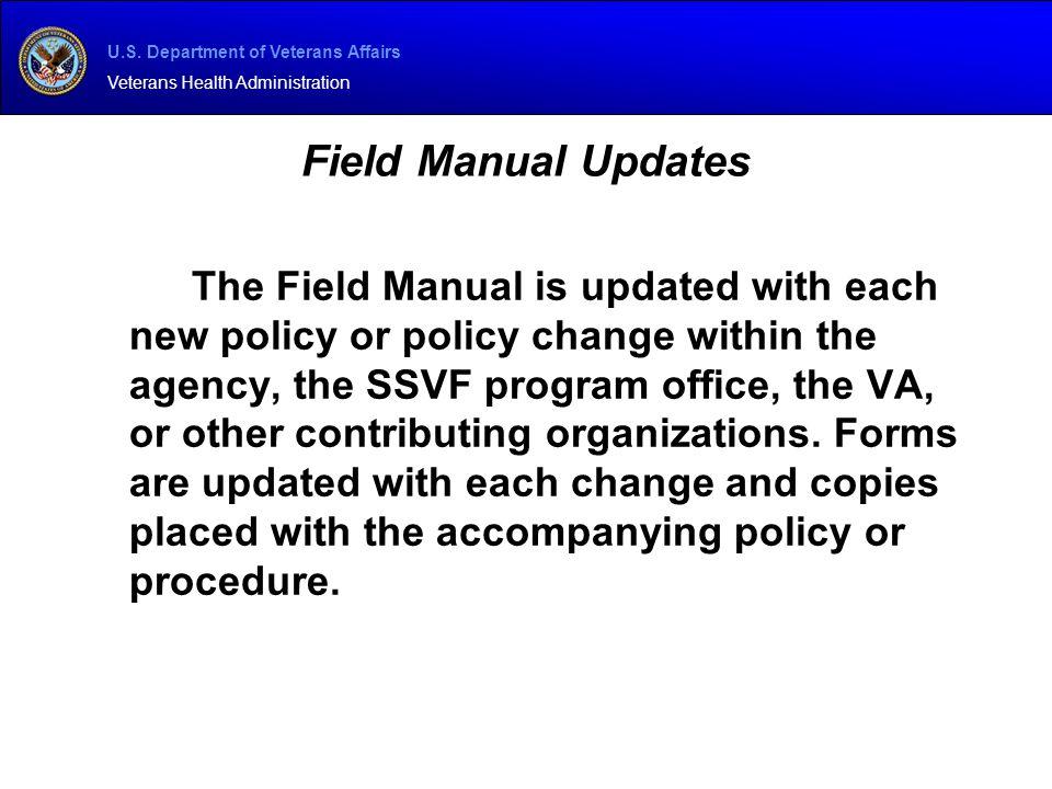 Field Manual Updates