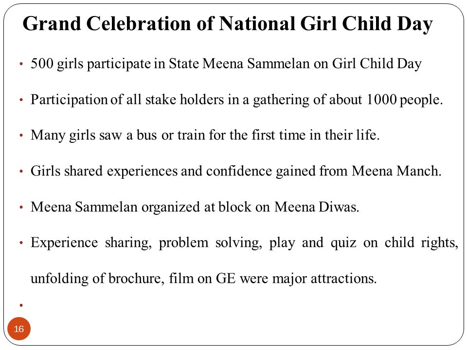 Grand Celebration of National Girl Child Day