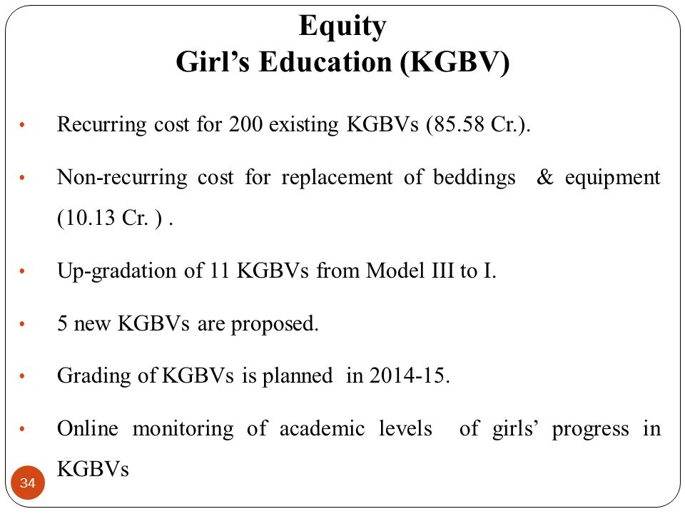 Equity Girl's Education (KGBV)
