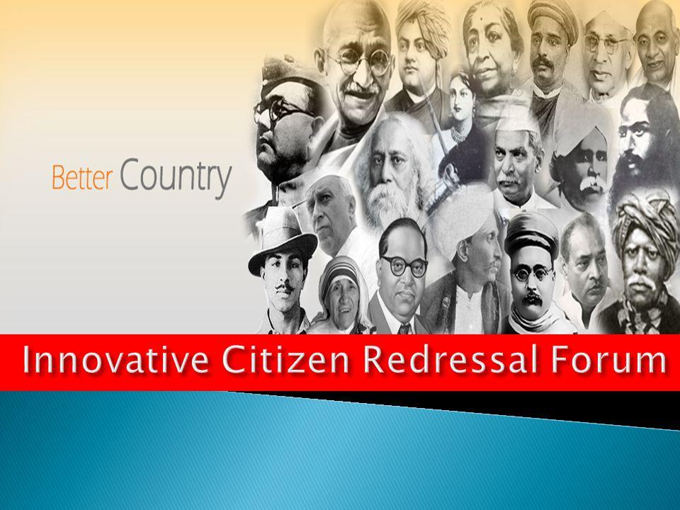 Innovative Citizen Redressal Forum