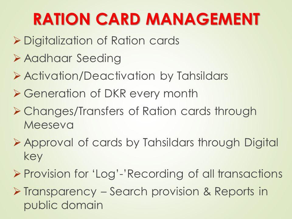 RATION CARD MANAGEMENT