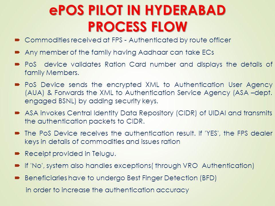 ePOS PILOT IN HYDERABAD PROCESS FLOW