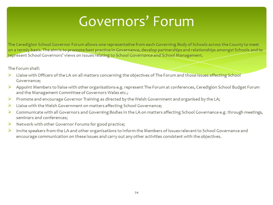 Governors' Forum