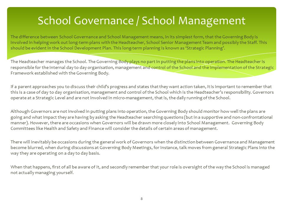 School Governance / School Management