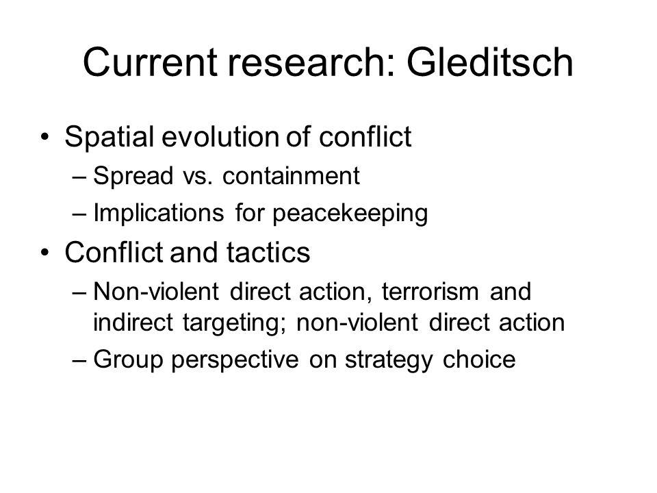 Current research: Gleditsch