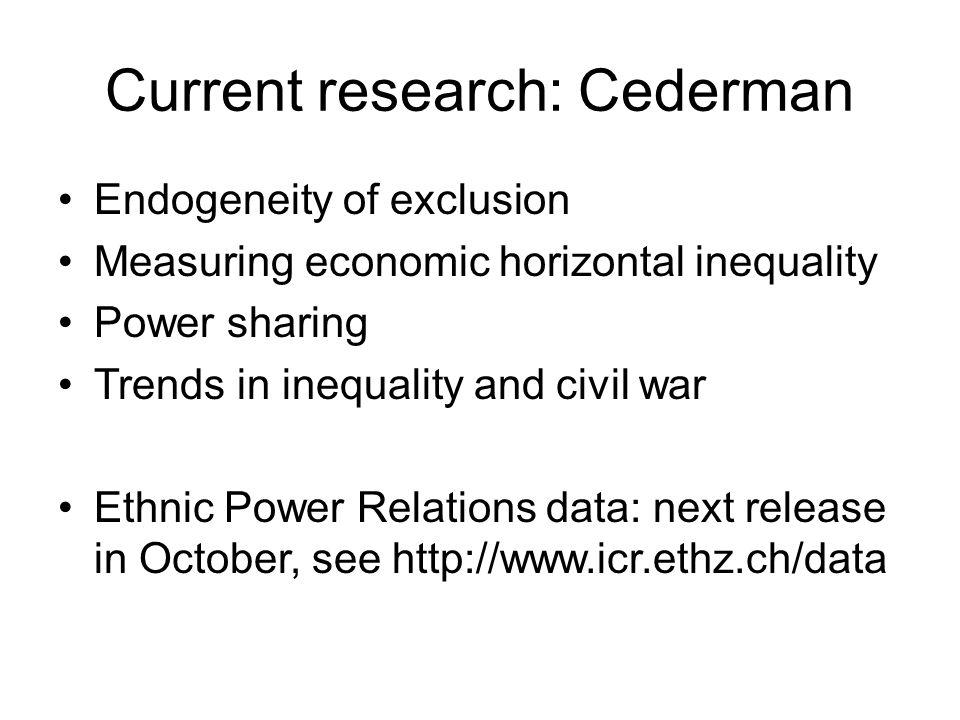 Current research: Cederman