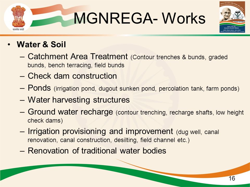 MGNREGA- Works Water & Soil
