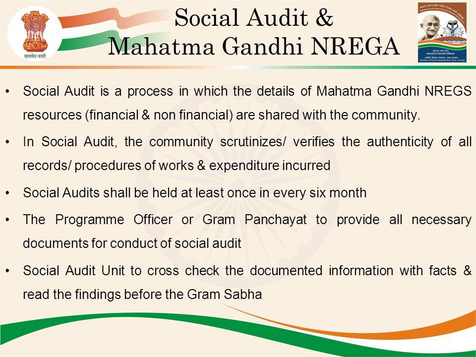 Social Audit & Mahatma Gandhi NREGA