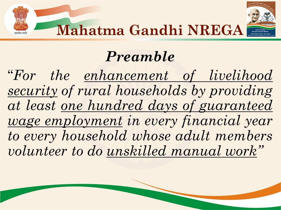 Mahatma Gandhi NREGA Preamble.