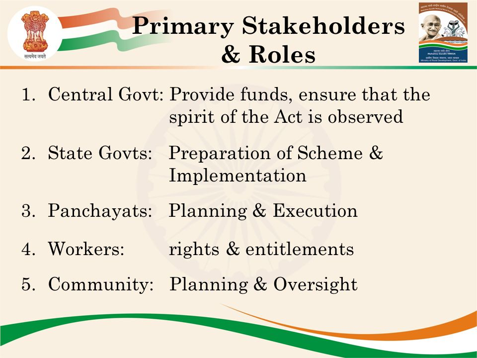 Primary Stakeholders & Roles