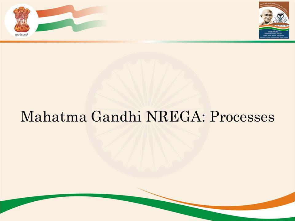 Mahatma Gandhi NREGA: Processes