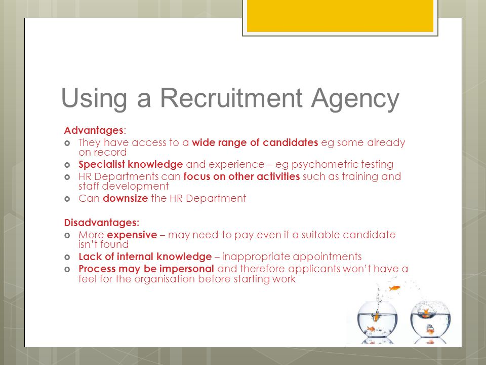 Using a Recruitment Agency