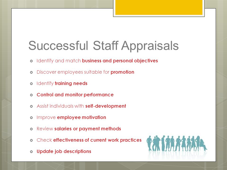 Successful Staff Appraisals