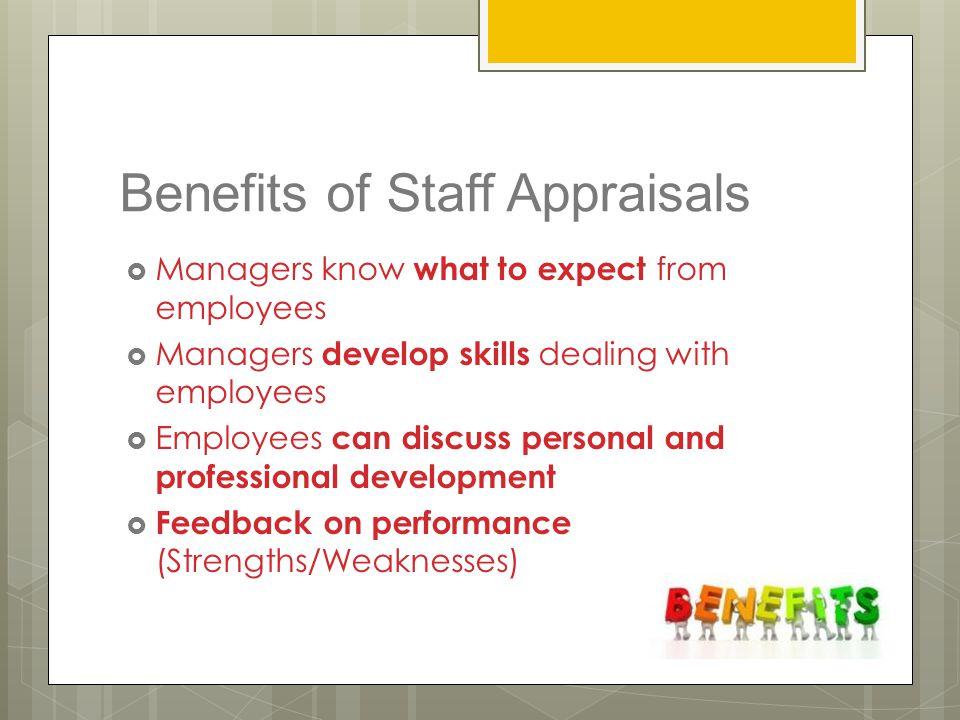 Benefits of Staff Appraisals