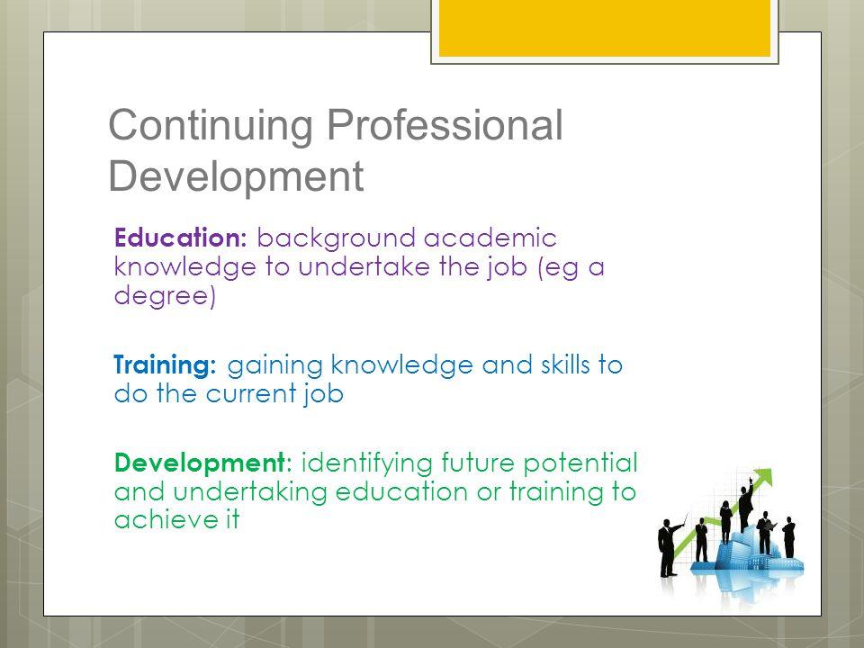 benefits of continuing professional development pdf