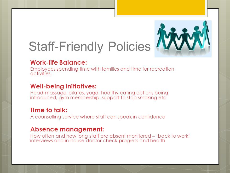 Staff-Friendly Policies